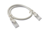 Cat 6a UTP Ethernet Cable, Snagless  - 0.5m (50cm) Grey