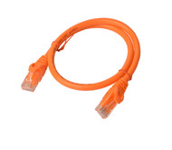 Cat 6a UTP Ethernet Cable, Snagless  - 0.5m (50cm) Orange