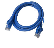 Cat 6a UTP Ethernet Cable, Snagless  - 1m (100cm) Blue