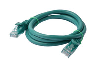 Cat 6a UTP Ethernet Cable, Snagless  - 1m (100cm) Green