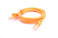Cat 6a UTP Ethernet Cable, Snagless  - 1m (100cm) Orange