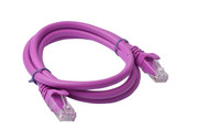 Cat 6a UTP Ethernet Cable, Snagless  - 1m (100cm) Purple