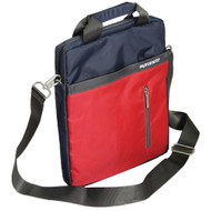 "Promate 'Dapp-TB' Dual Tone Stylish Messenger Bag for Tablets up to 10"" - Blue"