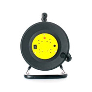 8ware Power Cable Extension Reel with 4 Way Socket Panel - 25m