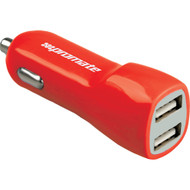 Promate 'Vivid' 3,100mA USB Universal Car Charger w/Dual USB Ports - Red