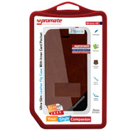 Promate 'Brace-i6' Ultra-Slim Leather Flip Case for iPhone 6/6S - Brown