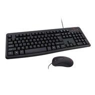8ware 1000DPI USB Wired Mouse with Full Size Wired Keyboard Combo - Black