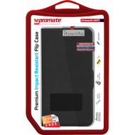 Promate 'Spino-i6P' Rotatable Folio Case for iPhone 6P/6SP w/Stand Function - Black