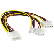 Molex Power Splitter Cable 1X5.25'M - 2X5.25'F/1X3.5'F 30cm