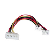 Molex Power Splitter Cable 2x3.5'F - 1x5.25'M 30cm