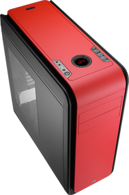 Aerocool DS 200 - Red Edition Mid Tower Case w/Window