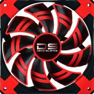 Aerocool DS Fan 12cm-Red w/LED, Dual Material, Fluid Dynamic Bearing, Noise Reduction