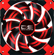 Aerocool DS Fan 14cm-Red w/LED, Dual Material, Fluid Dynamic Bearing, Noise Reduction