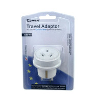 Travel Adapter for Australian and New Zealander Traveling to Europe/Middle East and Asia