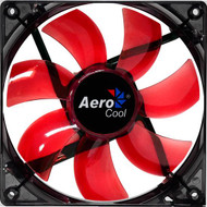 Aerocool Lightning Fan 12cm-Red w/LED, 7-Blade Design, 41.4CFM, 22.5DBA