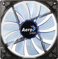 Aerocool Lightning Fan 14cm-Blue w/LED, 11-Blade Design, 48.0CFM, 22.0DBA