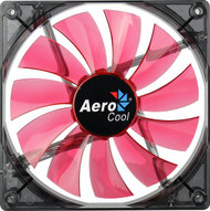 Aerocool Lightning Fan 14cm-Red w/LED, 11-Blade Design, 48.0CFM, 22.0DBA
