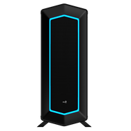 Aerocool P7-C1 USB 3.0, 7 Color LED Front panel & Tempered Glass left side pane Mid Tower Case - Black
