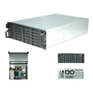Rack Mountable Server Chassis Case 4U 650mm Depth with 24 Bays Hot-Swap and Redundant 2U PSU Window