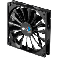 Aerocool Shark Fan 12cm-Black, 15-Blade Design, Fluid Dynamic Bearing, Noise Reduction