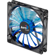 Aerocool Shark Fan 12cm-Blue w/LED, 15-Blade Design, Fluid Dynamic Bearing, Noise Reduction