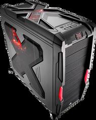 Aerocool Strike-X Advance-Black Mid Tower Gaming Case,1x14+3x12cm FAN,1xUSB3.0, 1xUSB2.0,HD Audio