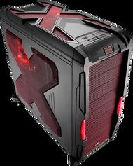Aerocool Strike-X Advance-Red Mid Tower Gaming Case,1x14+3x12cm FAN,1xUSB3.0, 1xUSB2.0,HD Audio