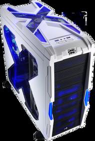 Aerocool Strike-X Advance-White Mid Tower Gaming Case,1x14+3x12cm FAN,1xUSB3.0, 1xUSB2.0,HD Audio