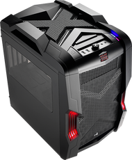 Aerocool Strike-X Cube-Black Gaming Case, mATX/Mini ITX , 20+14cm FAN Ctrl, 2xUSB3.0, HD Audio