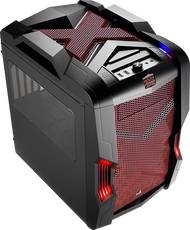 Aerocool Strike-X Cube-Red Gaming Case, mATX/Mini ITX , 20+14cm FAN Ctrl, 2xUSB3.0, HD Audio