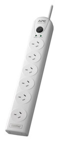 APC Essential SurgeArrest 6 outlets, 6FT power cord, 230V Australia