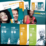 ESET Retail Pack #2 - Contains 5x4 SKUs, Display Box, Runner, Poster, Flyers, 10xOEM