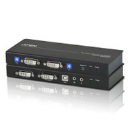 Aten DVI Dual View KVM Extender with Audio, RS232, EDID mode support, Sun/Mac KB/MS support