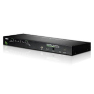 Aten 8 Port Rackmount USB-PS/2 VGA KVMP Switch with USB 2.0 Hub and Daisy Chain