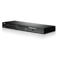 Aten 8 Port Rackmount USB-PS/2 VGA KVMP Over IP Switch with USB 2.0 Hub and Daisy Chain