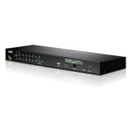 Aten 16 Port Rackmount USB-PS/2 VGA KVMP Switch with USB 2.0 Hub and Daisy Chain