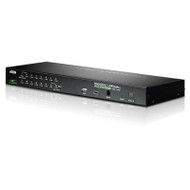 Aten 16 Port Rackmount USB-PS/2 VGA KVMP Over IP Switch with USB 2.0 Hub and Daisy Chain