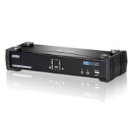 Aten 2 Port USB Dual-Link DVI KVMP Switch with 7.1 Audio and USB 2.0 Hub - Cables Included
