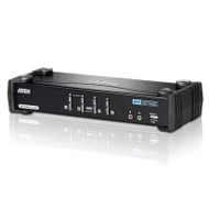 Aten 4 Port USB Dual-Link DVI KVMP Switch with 7.1 Audio and USB 2.0 Hub - Cables Included