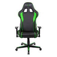 DXRacer F Series Gaming Chair, Sparco Style, Neck/Lumbar Support - Black & Green
