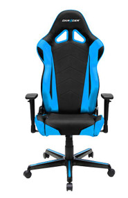 DXRacer Racing Series Gaming Chair, Neck/Lumbar Support - Black & Blue