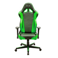 DXRacer Racing Series Gaming Chair, Neck/Lumbar Support - Black & Green