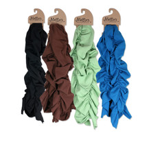 Organic Cotton Mid-Length Ruched Scarf