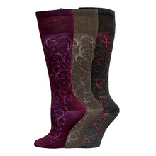 "Organic Wool ""Ink"" Knee-Hi Socks"