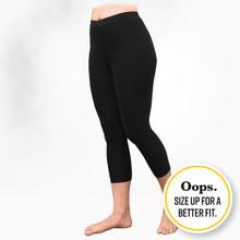 Oops - Organic Cotton Base Layer Leggings Black - Midcalf