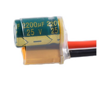 XT60-CAP with 14AWG 10mm silicone cable 2200UF 25V