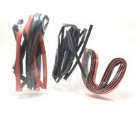2m Heat Shrink Tubes   (1m Black - 1m Red)