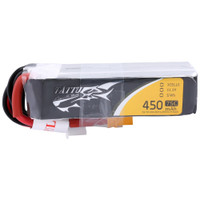 Tattu 450mAh 11.1V 75C 3S1P Lipo Battery XT30 - Long