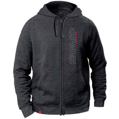 Personalized Team-BHP Hoodie (Anthracite Grey)
