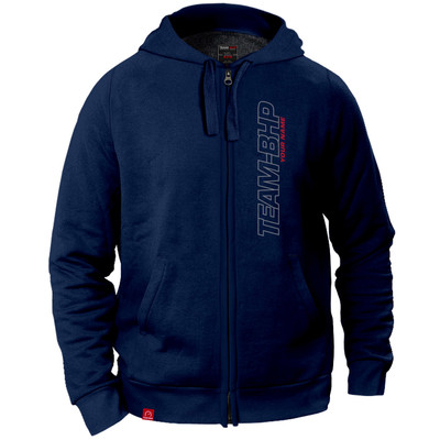 Personalized Team-BHP Hoodie (Navy Blue)
